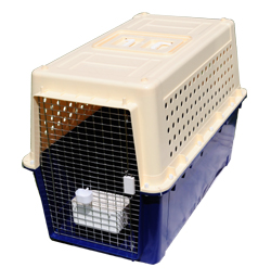 large plastic animal transport cage pp70